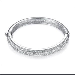 Jewelry - Encrusted Bangle With Swarovski Crystals